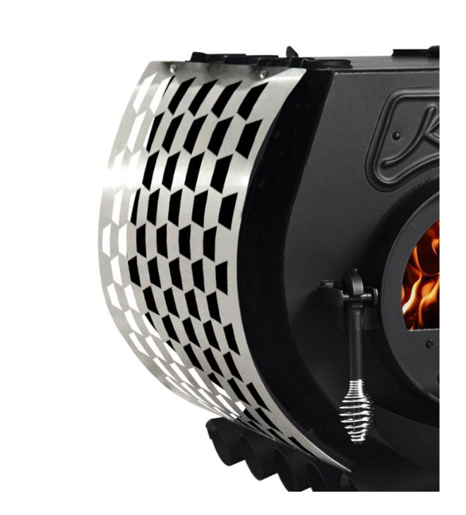 Kanuk® Zijstukkenset Trapez roestvrij staal